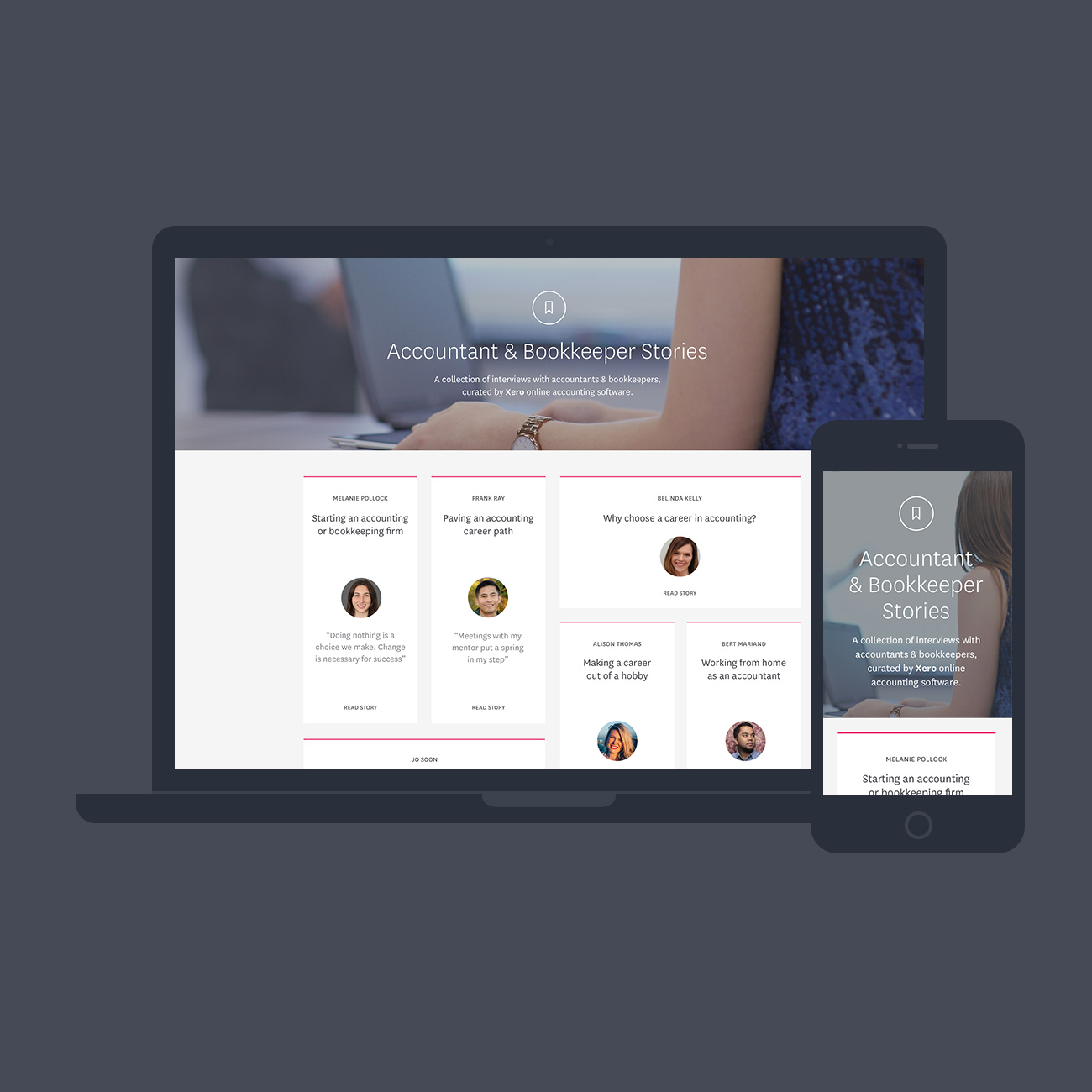 accountant and bookkeeper stories responsive design